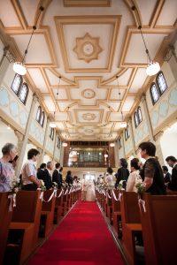 多治見修道院結婚式退場シーン