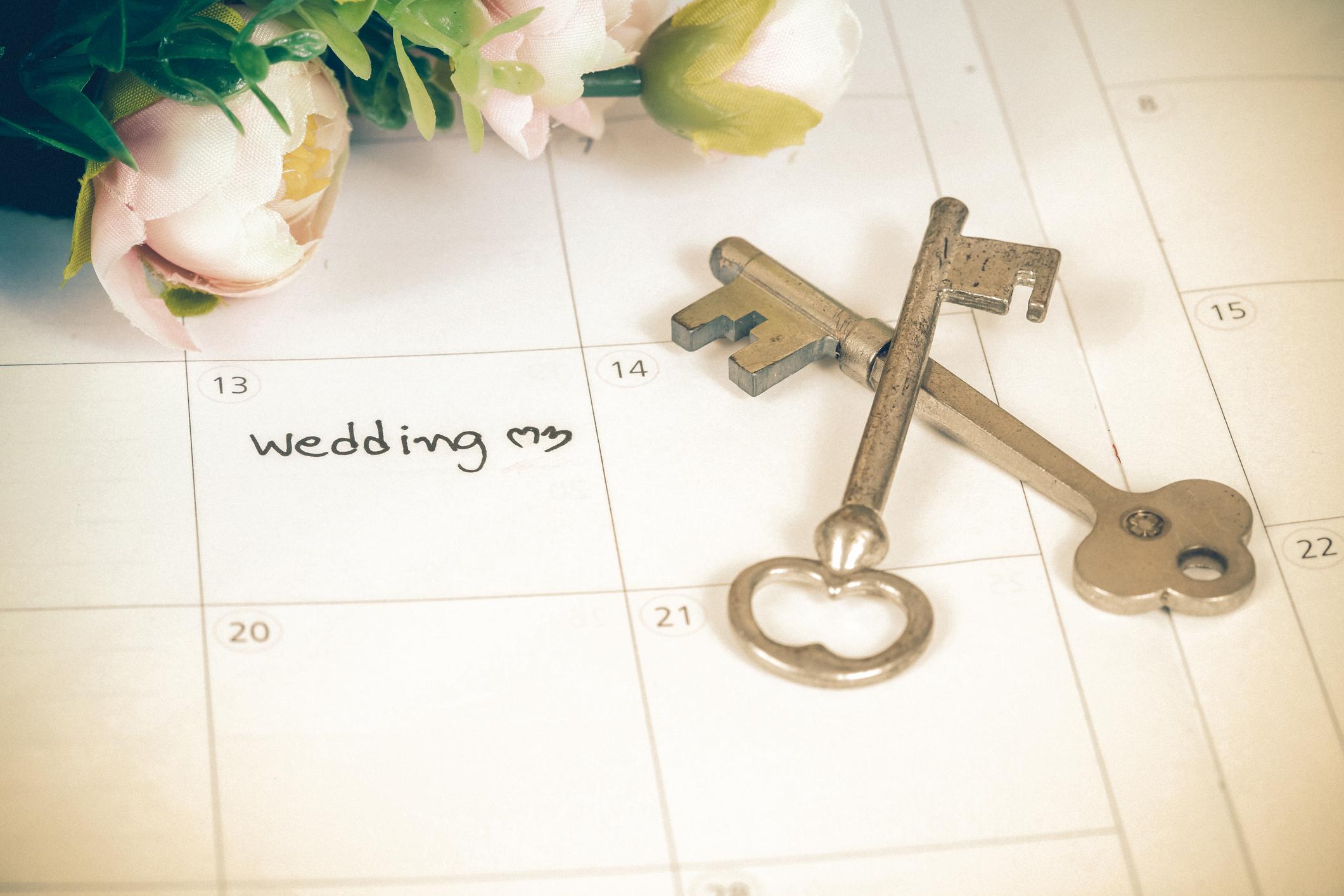 結婚式 いつ